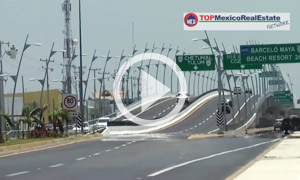 The new playa del carmen overpass