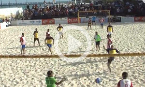 Playa del Carmen Beach Soccer at Mamitas Beach