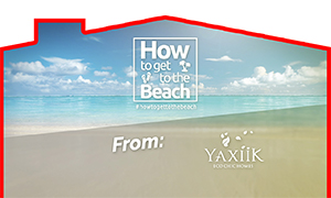 How to get to the beach from Yaxiik Villas