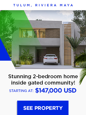 3-bedroom home inside gated community in Tulum