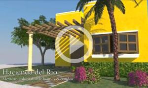 Hacienda del Rio - Playa del Carmen mexican colonial style homes & con