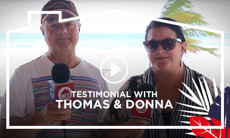 Live it Tour Testimonial  Thomas & Donna