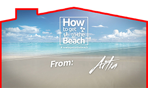 How to get to the beach from Artia Condos
