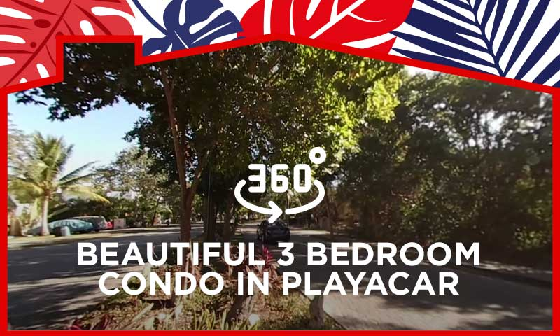 360° Video Tour Beautiful 3 Bedroom Condo in Playacar