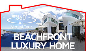 360° Video Tour Beachfront Home in Puerto Aventuras